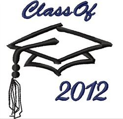 Class of 2012 embroidery design