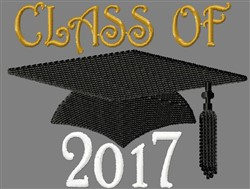 Class Of 2017 embroidery design