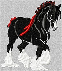 Clydesdale Horse embroidery design