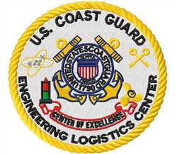 Coast Guard Badge embroidery design