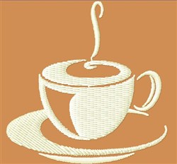 Steaming Coffee embroidery design