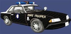 Cop Cruiser Car embroidery design