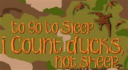 Count Ducks Not Sheep embroidery design