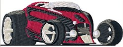 Coupe Hot Rod embroidery design