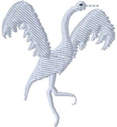 Dancing Crane embroidery design