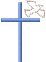 Cross And Dove embroidery design