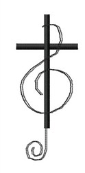 Cross Clef embroidery design