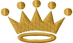 Basic Crown embroidery design