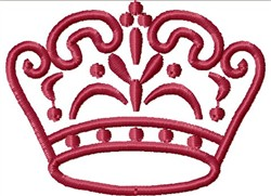 Fancy Crown embroidery design