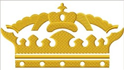 Regal Crown Small embroidery design
