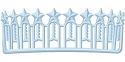 State Crown embroidery design