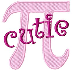Cutie Pi embroidery design