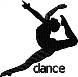 Dancer Silhouette embroidery design