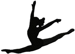 Dancer Jump Silhouette embroidery design