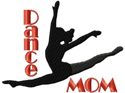 Dance Mom Split embroidery design