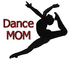 Dance Mom Leap embroidery design