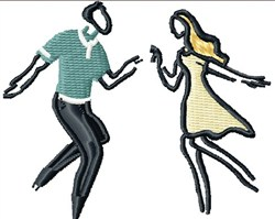 Swing Dance embroidery design