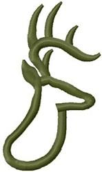 Deer Appliqué embroidery design