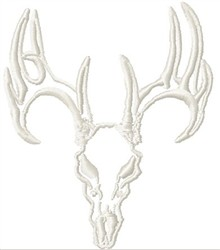 Deer Skull Outline embroidery design