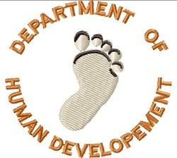 Human Development Logo embroidery design