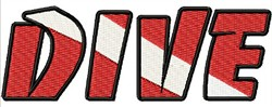 Scuba Dive Logo embroidery design