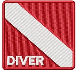 Scuba Diver Emblem embroidery design