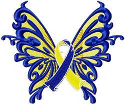 Butterfly Downs Support embroidery design