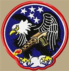 War Eagle embroidery design