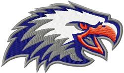 Eagle Head Fierce embroidery design