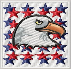 Eagle And Stars Emblem embroidery design