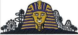 Egypt Amusement Park embroidery design