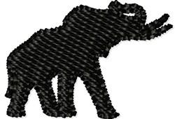 Elephant Bull embroidery design
