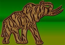 Elephant Appliqué embroidery design