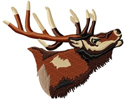 Elk embroidery design