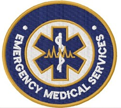 EMS Badge embroidery design