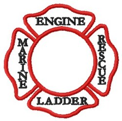 Fire Badge embroidery design