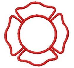 Blank Fire Badge embroidery design