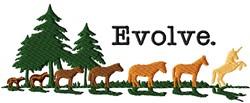 Evolution embroidery design