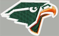 Falcon Head embroidery design
