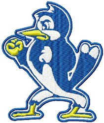 Feisty Blue Jay embroidery design