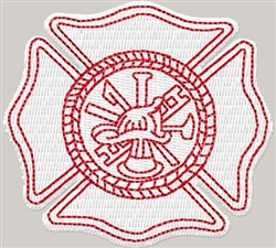 Fireman Badge embroidery design