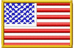 Small USA Flag embroidery design
