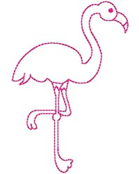 Flamingo Quilting embroidery design