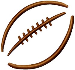 Large Football Stencil embroidery design
