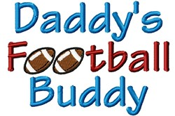 Dads Football Buddy embroidery design