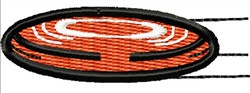 Frisbee embroidery design