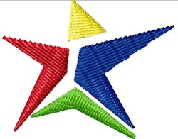 Funky Star embroidery design
