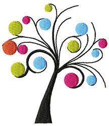 Funky Tree embroidery design