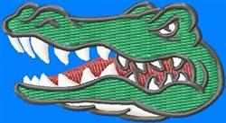 Alligator Head embroidery design