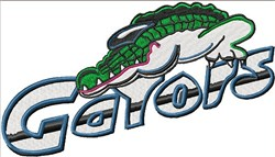 Gators embroidery design